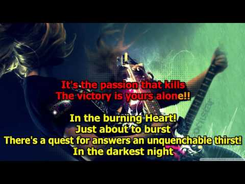 Burning Heart - (HD Karaoke) Survivor
