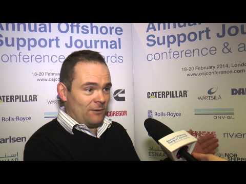 Ian Baylis Managing Director Seacat Services at Offshore Support Journal conference