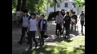 Konie i dzieci w stadninie Moszna