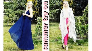 SUMMER TRY ON HAUL   ZARA H&M ALDO ASOS   Beachwear & Summer Clothing   Dove Sorys
