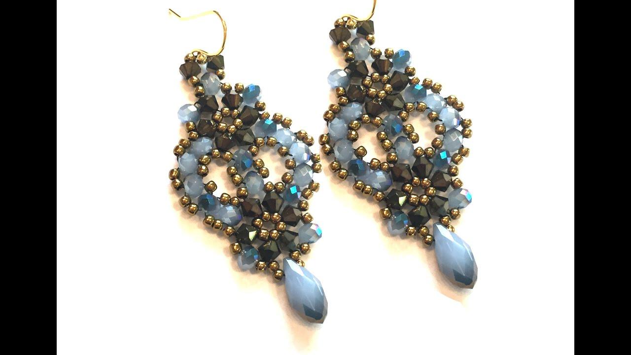 tutorial diy beaded earrings