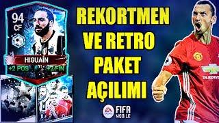 REKORTMEN (RETRO) PAKETİNİ AÇTIM !! OHA 94+ ELİT 5 TANE 86+ - Fifa Mobile