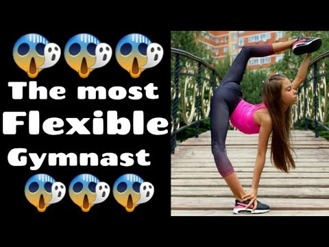 The most flexible gymnast in the world😱😱😱