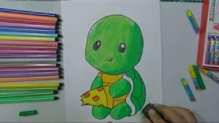 Vẽ con rùa | Hướng dẫn vẽ con rùa |Vẽ và tô màu con rùa |Draw Turtle cute