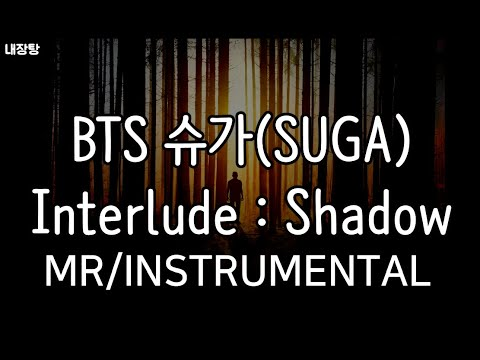 [MR/Instrumental] BTS SUGA (방탄소년단 슈가)  - Interlude : Shadow 노래방 (Karaoke)
