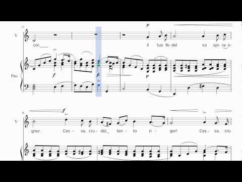 [Low voice] Caro mio ben - Piano Accompaniment in C major for Alto \ Baritone (study version)