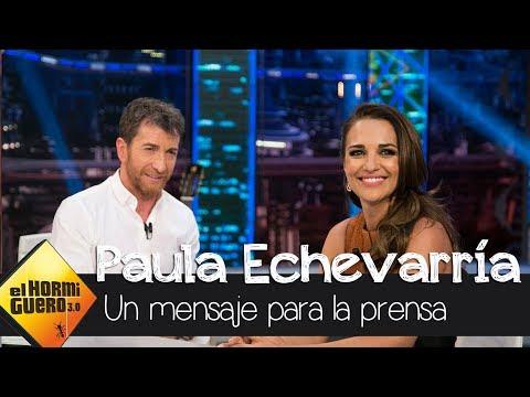 """Paula Echevarría: """"A la prensa le pido respeto y prudencia"""" - El Hormiguero 3.0 thumbnail"""