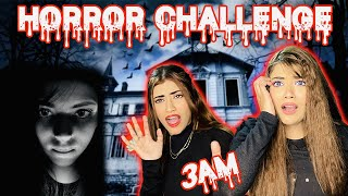 HORROR CHALLENGE At *3 AM* | Talking To A *GHOST* ☠️ Ft. Samreen Ali | Mahjabeen Ali