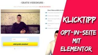 KLICK TIPP - LANDINGPAGE MIT ELEMENTOR KOSTENLOS ERSTELLEN!