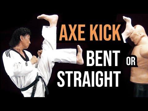 Bent Leg Vs. Straight | Taekwondo Axe Kick Tutorial | TaekwonWoo