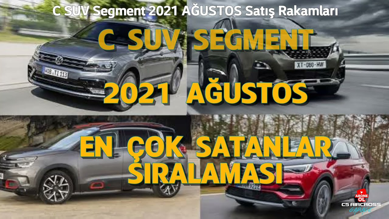 2021 AĞUSTOS C SUV SEGMENT TOPLAM SATIŞ RAKAMLARI & SUV PAZARINDAKİ SATIŞ ORANLARI !! SADECE C SUV !