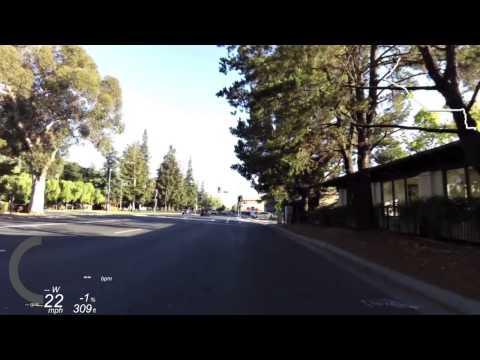 Campbell, CA to Menlo Park, CA via Foothill Expressway 2014 06 25 Morning