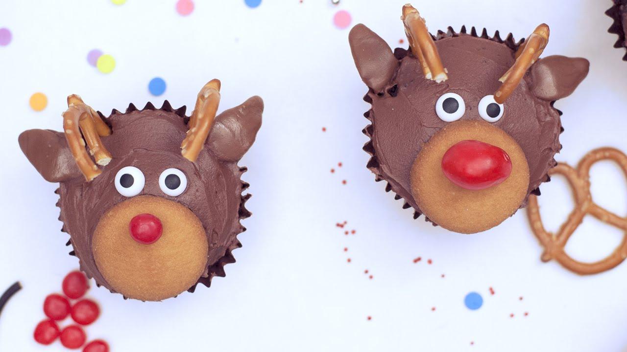 Cupcakes de reno de Navidad  YouTube