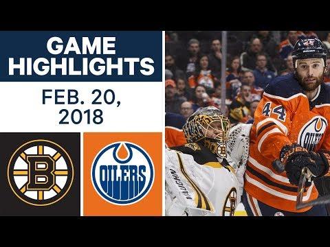 NHL Game Highlights | Bruins vs. Oilers – Feb. 20, 2018