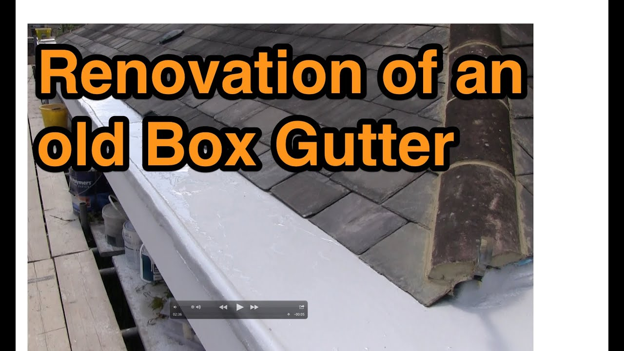 Box Gutter Renovation Using A Liquid Roofing System