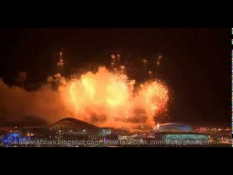 teo fireworks-Sardinia-Italy light up the sky over Sochi as Olympics begin