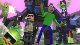 Canavar Okulu : BALDİ VAR vs ZOMBİE APOCALYPSE Minecraft Animasyon
