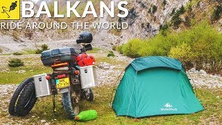 RIDING around the WORLD on a MOTORCYCLE, BALKANS - Croatia to Turkey (Istanbul)