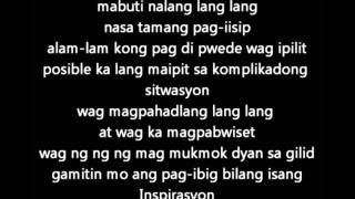Repeat youtube video Shehyee - Inspirasyon (lyrics)