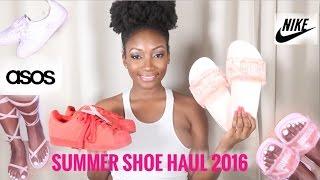 SUMMER SHOE HAUL 2016 + GIVEAWAY !!   Lizlizlive
