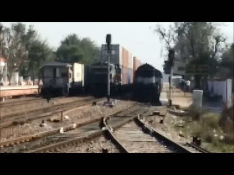 When trains goes through Loop line and Mainline block by Freights....!!