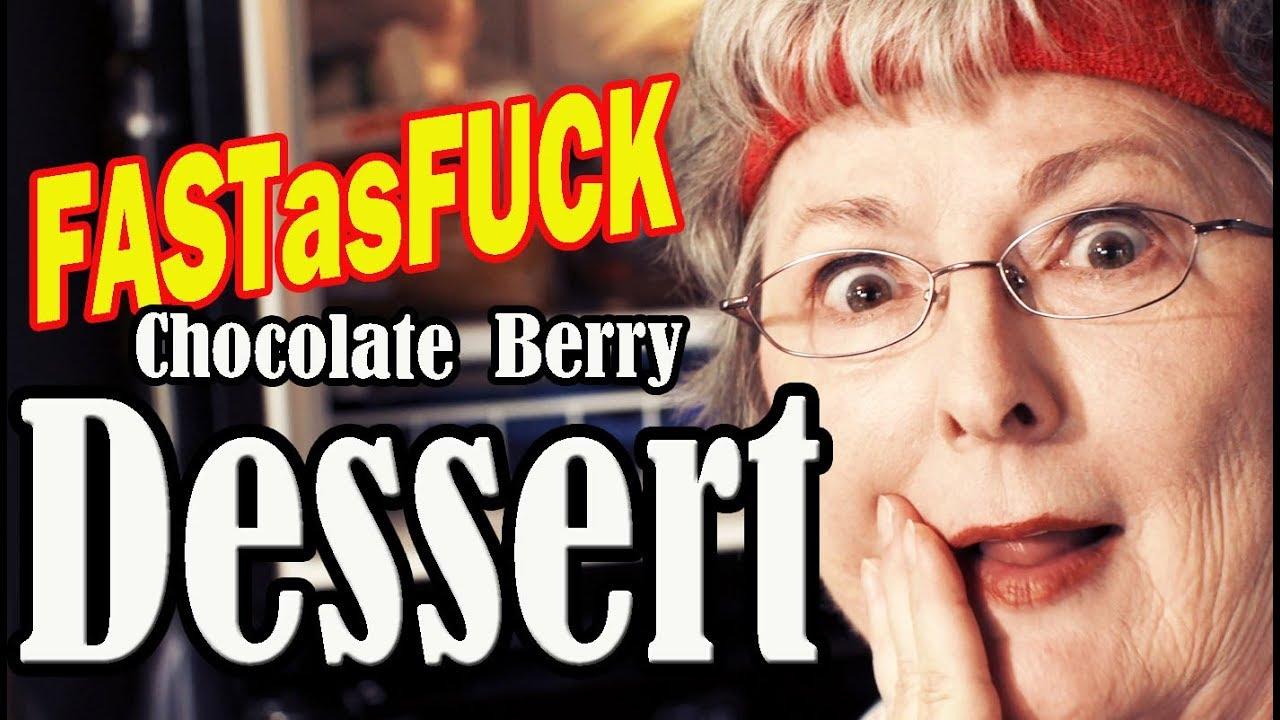 Fastasfuck chocolate berry parfait dessert youtube for Granny pottymouth bakes a vegan cake