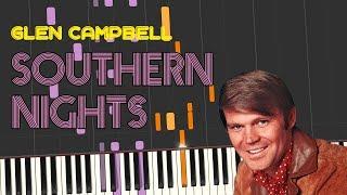 """Free sheets: http://www.mediafire.com/file/z83eu7y6245yfmu/southern+nights.pdf/file paypal: https://www.paypal.me/goodoldsheets""""southern nights"""" is a song wr..."""