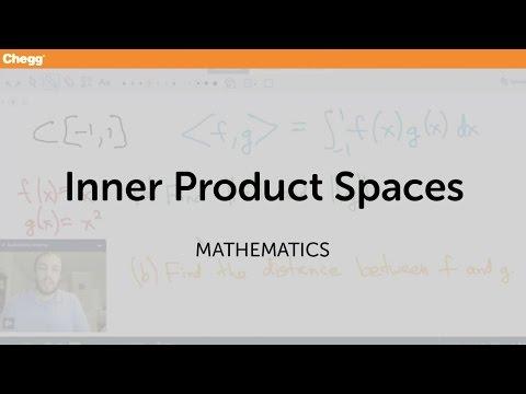 Inner Product Spaces   Math   Chegg Tutors