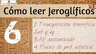 Cómo leer jeroglíficos egipcios Vol. 6 | Laura-Egiptología