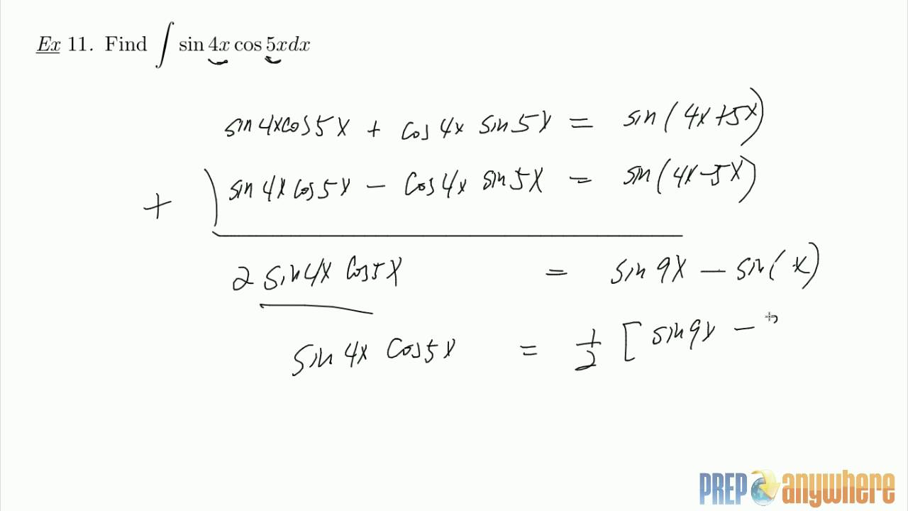 product to sum formula integral pdf