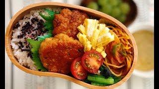Gambar cover 【お弁当 とりつくね弁当】Chicken tsukune  lunchbox bento
