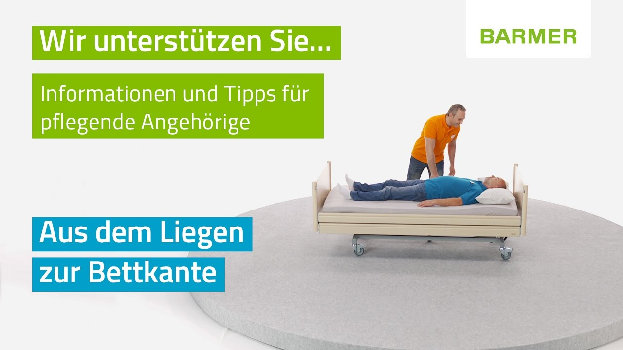 pflege bung bettkannte hilfe beim aufstehen aus dem bett youtube. Black Bedroom Furniture Sets. Home Design Ideas