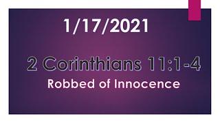 2 Corinthians 11:1-4