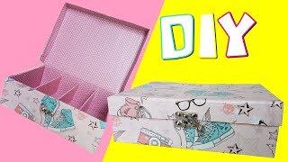 DIY ORGANIZADOR  Feito de caixa de sapato  | Viviane Magalhães