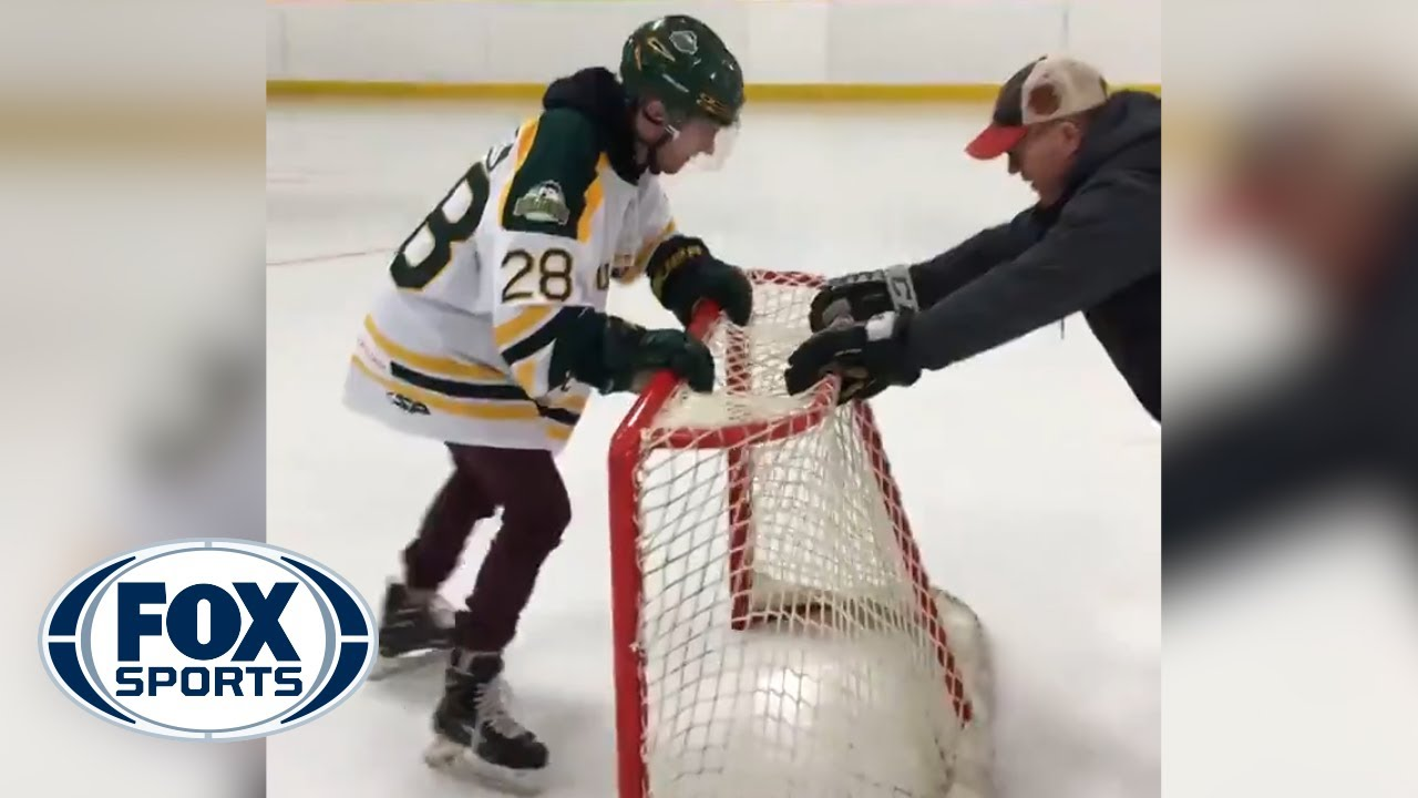 Humboldt Broncos Survivor Layne Matechuk returns to the ice after deadly bus crash