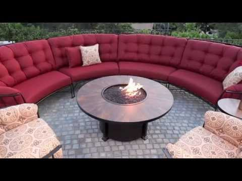 OW Lee Monterra Sectional With Fire Pit Table | USAOutdoorFurniture.com.  USA Outdoor Furniture