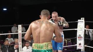 WHAT A FIGHT!! DIEGO COSTA vs GREG O'NEILL - BBTV - Black Flash Promotions 29-7-17