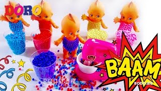 Learn Colors Baby doll with Colorful Sponge and Blender Learning video by Doro thumbnail