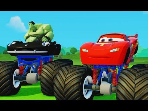 Про Машинки Мультик Игра для детей Молния Маквин и Халк Монстр Трак Lightning McQueen & Hulk