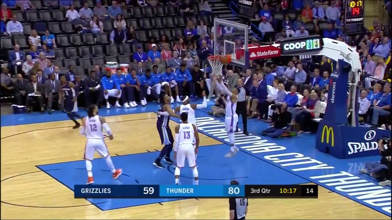 Russell Westbrook Grabs 20 Rebounds to Finish Season with Triple-Double Average