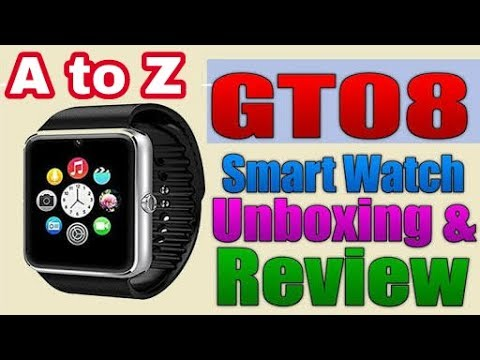 Gt08 Smart Watch Unboxing And Review In Hindi/Urdu