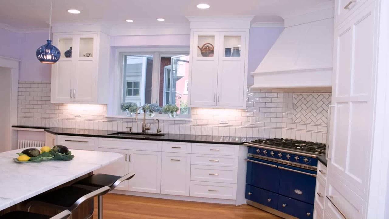 White Kitchen Cabinets With White Subway Tile Backsplash Youtube