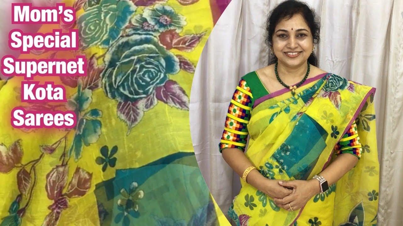 Mom's special Supernet Kota sarees   ,Surekha Selections,Vijayawada,March 4, 2021