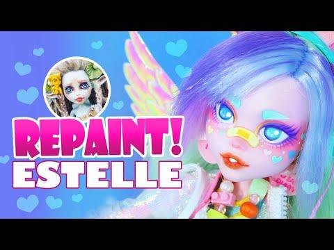 Repaint! Estelle the Pastel Rainbow Art Doll - H ALI Crafts Collaboration