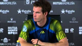 Madrid 2013 Tuesday Interview Murray