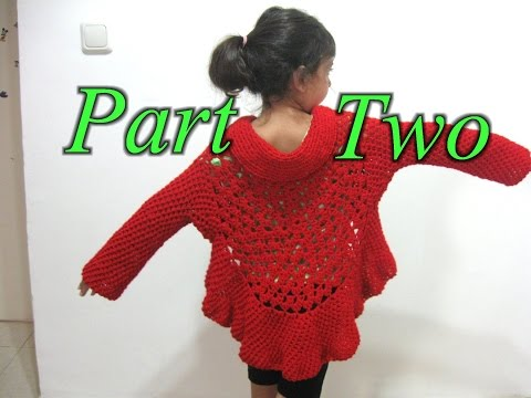 Butterfly Stitch Circular Jacket - Part 2 - Left Handed Crochet Tutorial