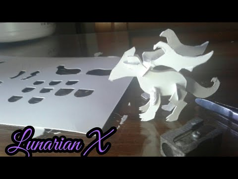 HandCraft: Cardboard- 3-Dimensional Dragon
