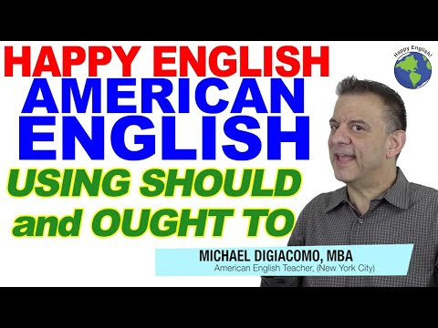 Using SHOULD and OUGHT TO - Modal Verbs in English Part