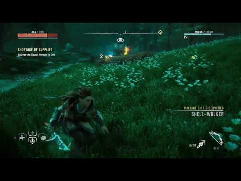 Taking down a Shell-Walker w/ companion Horizon Zero Dawn