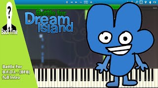 Battle For B.F.D.I. - (BFB) full Intro (Piano Cover) + Sheets & Midi